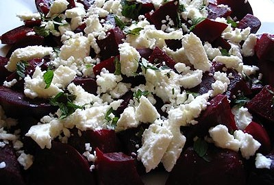beets and feta